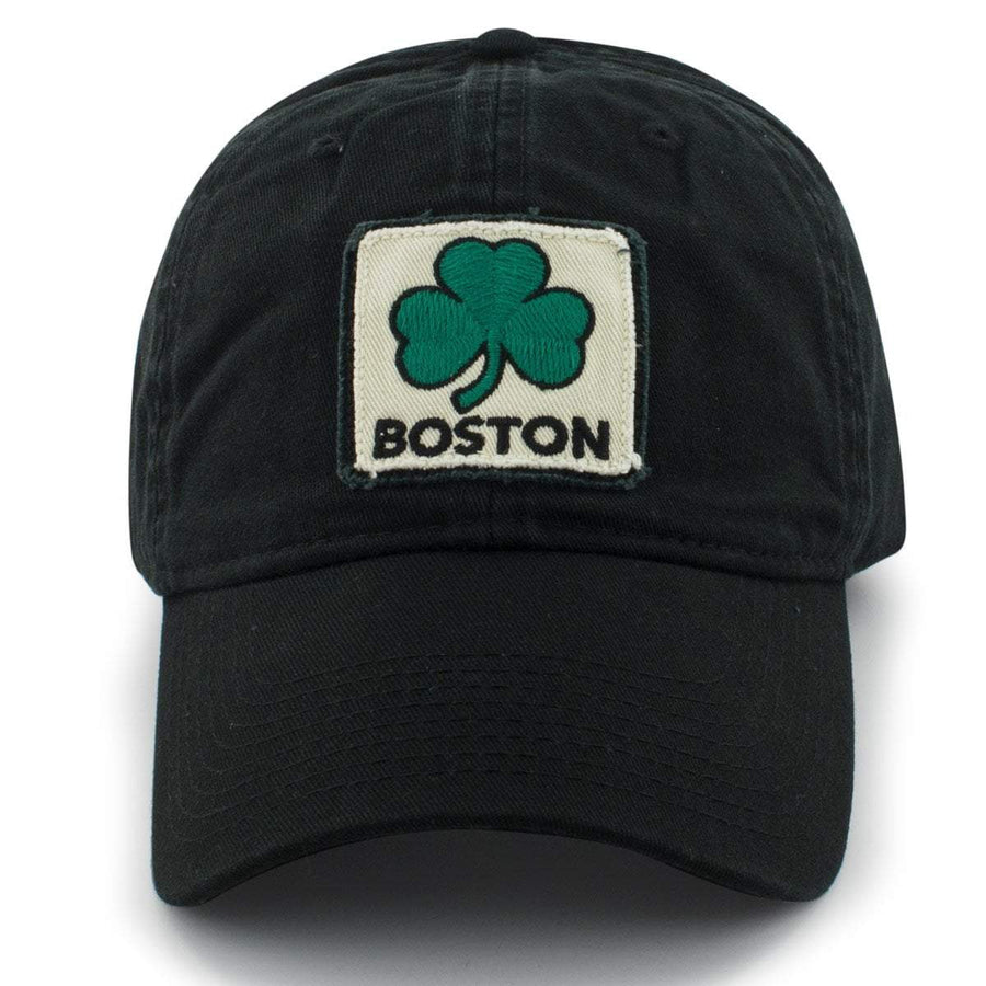 Boston Shamrock Patch Pastime Adjustable - Black - Chowdaheadz