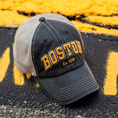 Boston Black & Gold Arch Dirty Water Trucker - Chowdaheadz