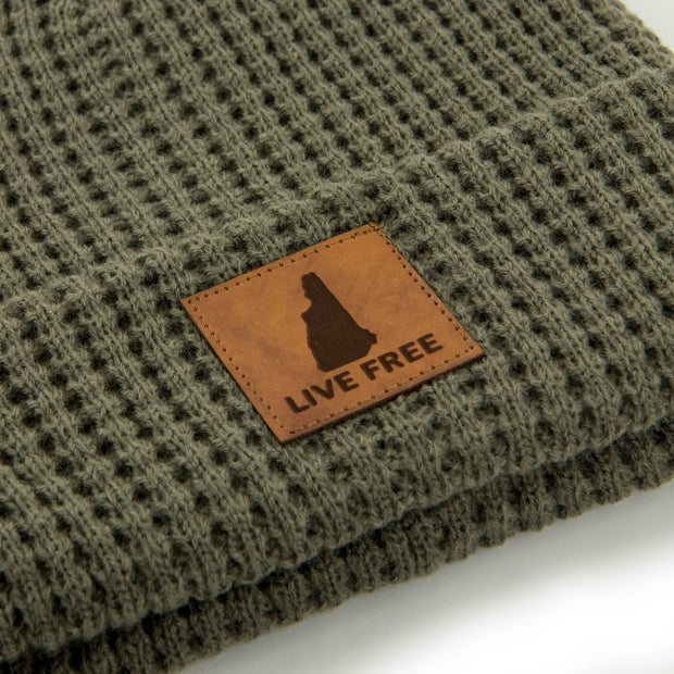 Live Free New Hampshire Patch Timber Beanie - Chowdaheadz