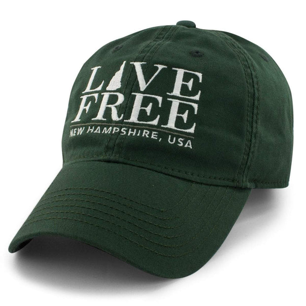 "Live Free New Hampshire ""Pastime"" Adjustable Hat - Chowdaheadz"