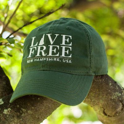 "Live Free New Hampshire ""Pastime"" Adjustable Dad Hat - Chowdaheadz"