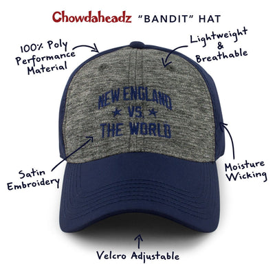 "New England Vs. The World ""Bandit"" Cool Fit Adjustable - Chowdaheadz"