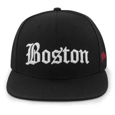"Old Boston Script ""Solid"" Snapback Hat - Chowdaheadz"