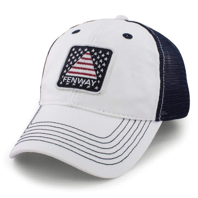 "Fenway USA Patch ""White Wash"" Trucker Hat - Chowdaheadz"
