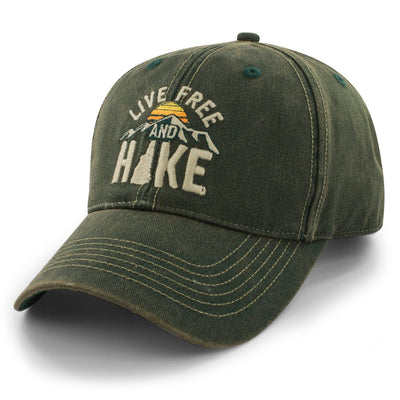 "Live Free & Hike ""Trailblazer"" Adjustable Hat - Chowdaheadz"
