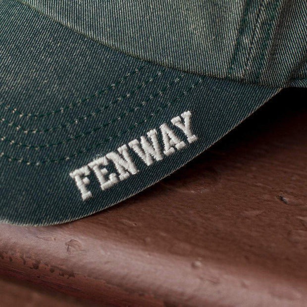 "Mini Fenway Hot Dog ""Ballpahk"" Adjustable Hat - Vintage Green - Chowdaheadz"