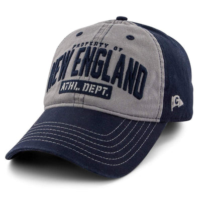 "Property of New England ""Varsity"" Adjustable Hat - Navy - Chowdaheadz"