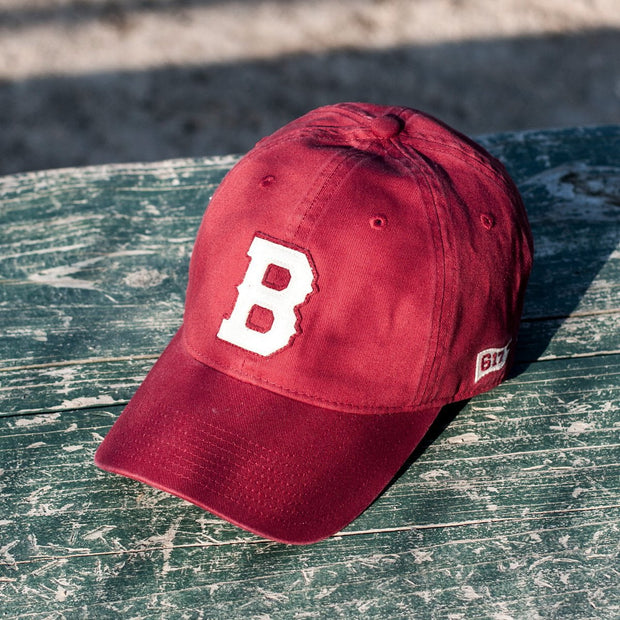 "Boston B ""Old Timah"" Adjustable Hat - Brick - Chowdaheadz"