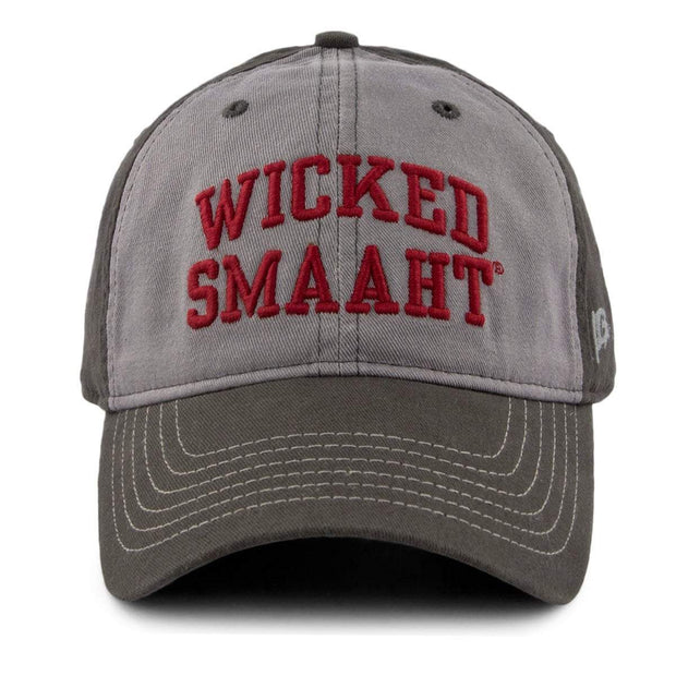 "Wicked Smaaht ""Varsity"" Adjustable Hat - Charcoal - Chowdaheadz"
