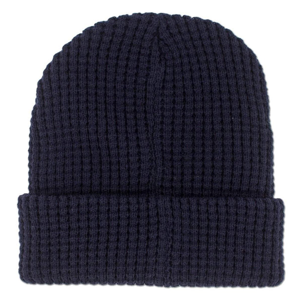 Fenway Leather Patch Timber Beanie - Navy - Chowdaheadz