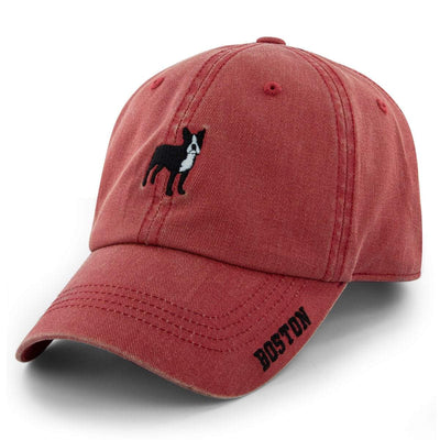 Mini Boston Terrier Ballpahk Adjustable Hat - Chowdaheadz