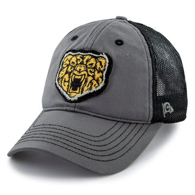 Black & Gold Bear Mesh Trucker Hat - Chowdaheadz