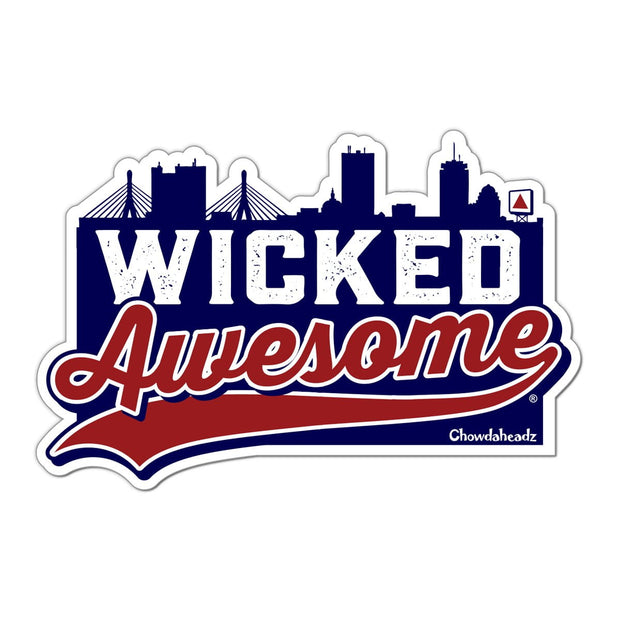 Wicked Awesome Boston Sticker - Chowdaheadz