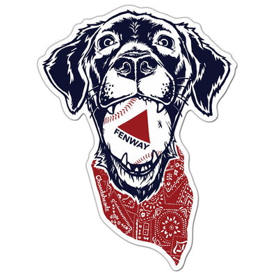 Fenway Dog Sticker - Chowdaheadz