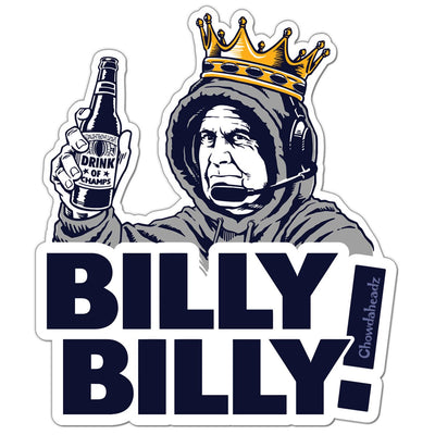 Billy Billy! Sticker - Chowdaheadz