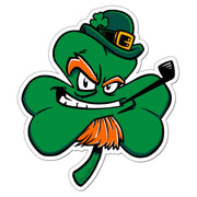 Irish Leprechaun Shamrock Sticker - Chowdaheadz