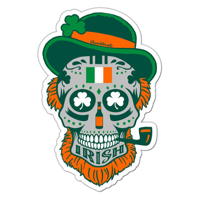 Irish Dead Head Sticker - Chowdaheadz