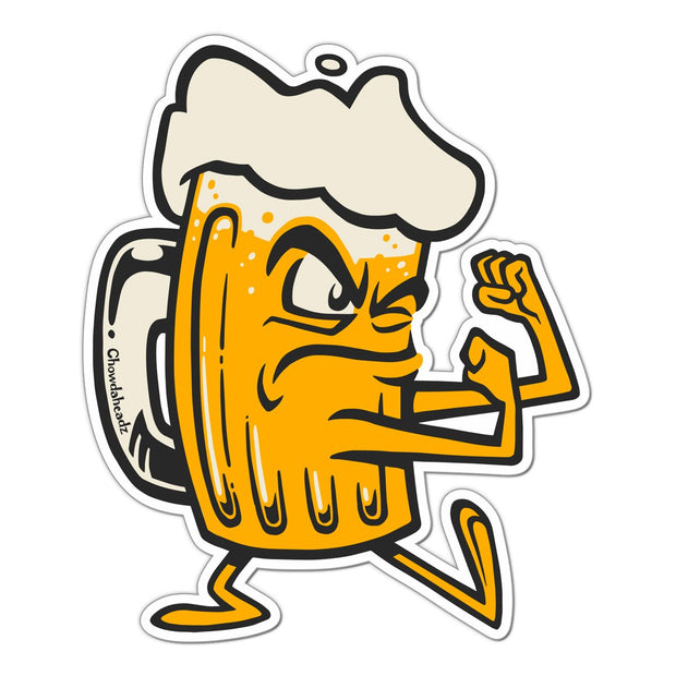 Fightin' Beer Mug Sticker - Chowdaheadz