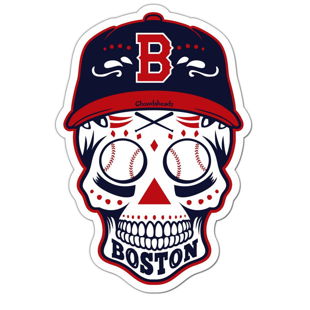 Boston Baseball Dead Head Sticker - Chowdaheadz