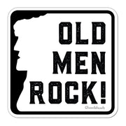 Old Men Rock Sign Sticker - Chowdaheadz