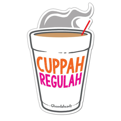Cuppah Regulah Sticker - Chowdaheadz