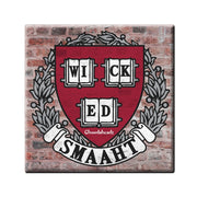 College Wicked Smaaht Square Magnet - Chowdaheadz