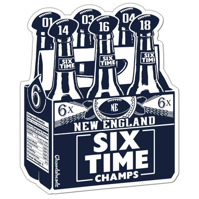 New England Six Pack Sticker - Chowdaheadz