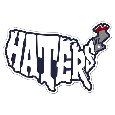 New England Haters Map Sticker - Chowdaheadz