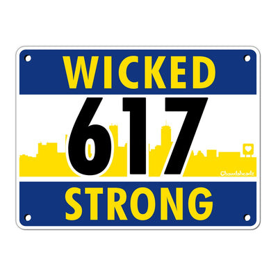Wicked Strong Runners Bib Sticker - Chowdaheadz