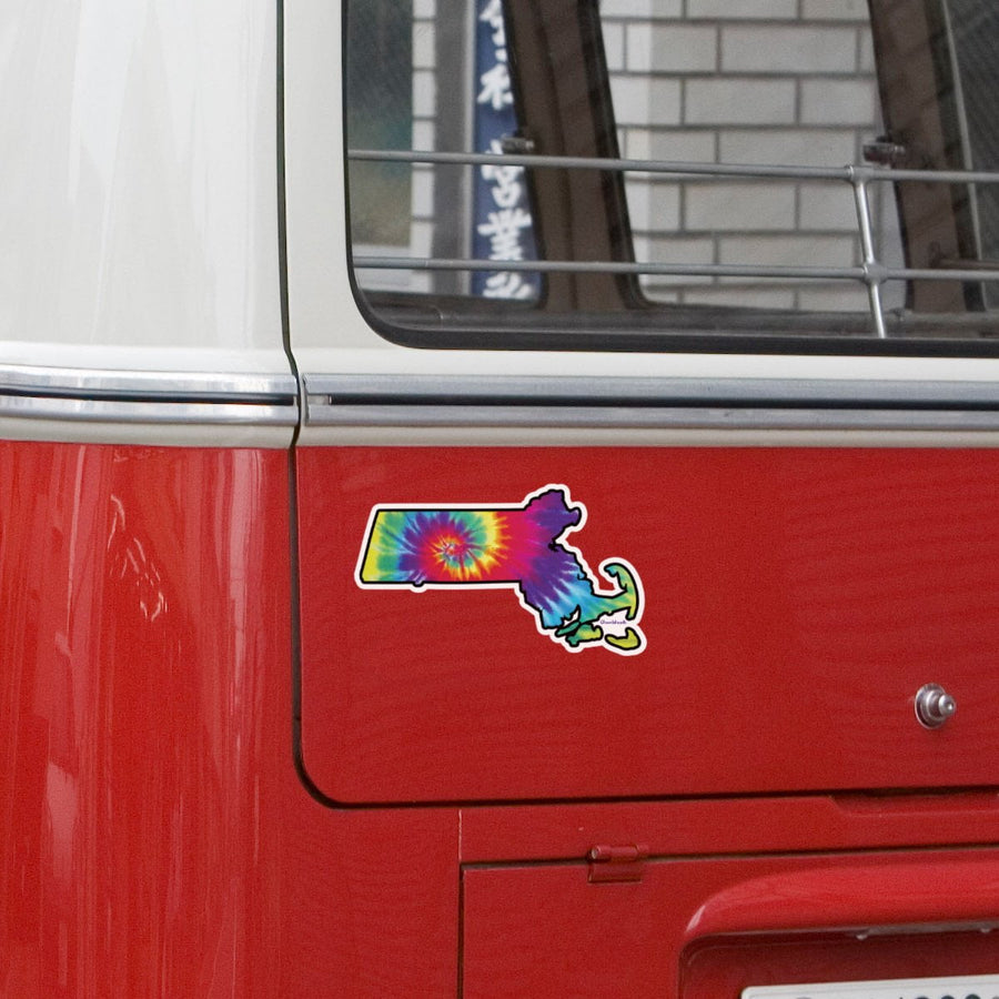 Massachusetts Tie Dye Sticker - Chowdaheadz