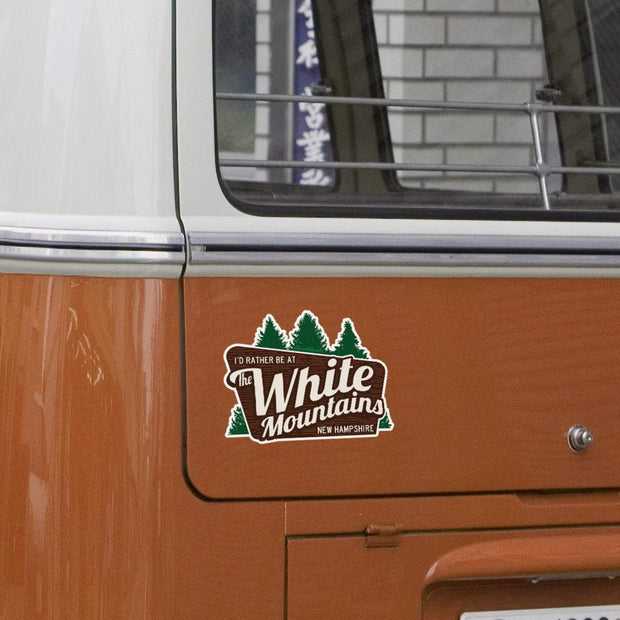 I'd Rather Be At The White Mountains NH Sticker - Chowdaheadz