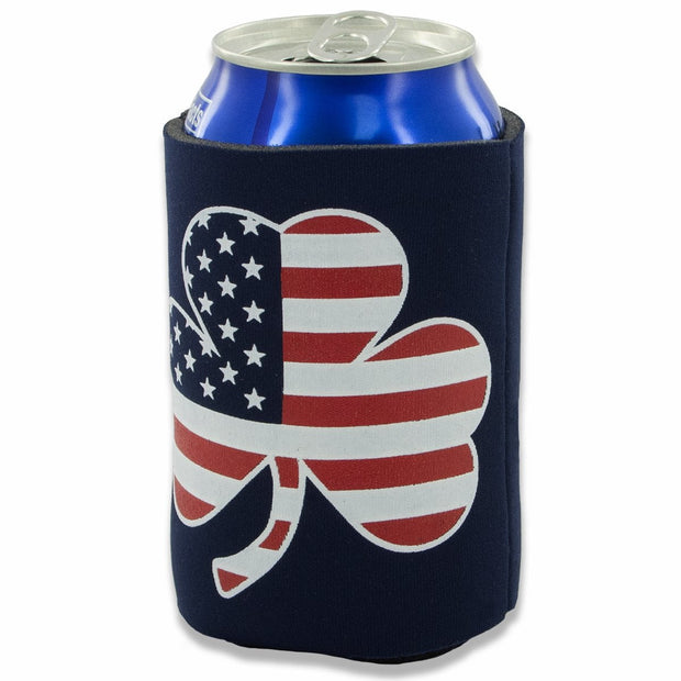 Shamrock Stars & Stripes Collapsible Can Koolie - Chowdaheadz