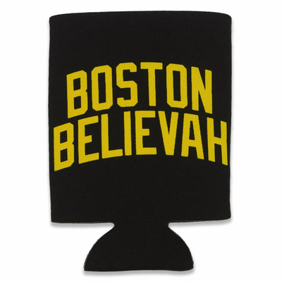Boston Believah Black and Gold Collapsible Can Koolie - Chowdaheadz