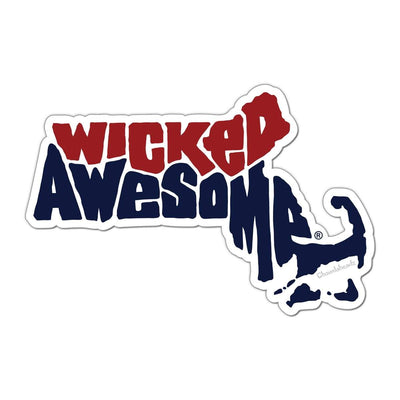 Wicked Awesome Massachusetts Sticker - Chowdaheadz