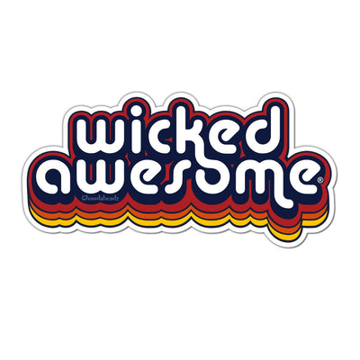 Wicked Awesome Retro Sticker - Chowdaheadz