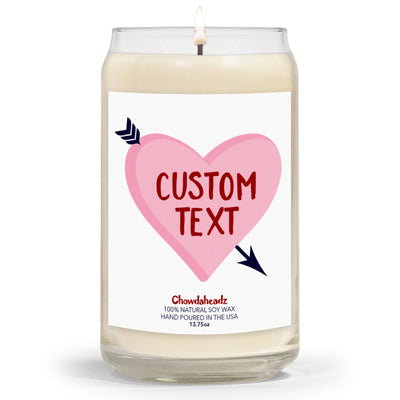 Custom Heart Love 13.75oz Candle - Chowdaheadz