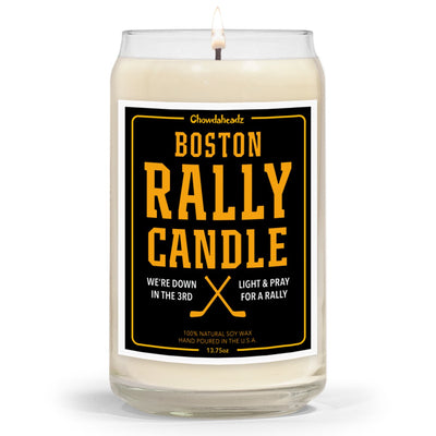 Boston Hockey Rally Candle - 13.75oz - Chowdaheadz