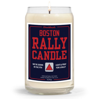 Boston Baseball Rally Candle - 13.75oz - Chowdaheadz