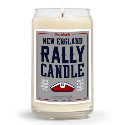 New England Football Rally Candle - 13.75oz - Chowdaheadz