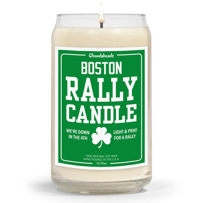 Boston Basketball Rally Candle - 13.75oz - Chowdaheadz