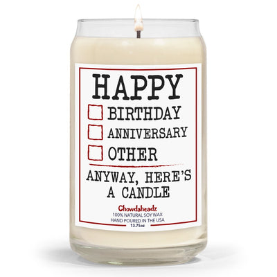 Happy Check Boxes 13.75oz. Candle - Chowdaheadz