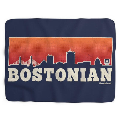 Bostonian Skyline Sherpa Fleece Blanket - Chowdaheadz