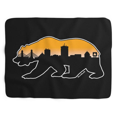 Boston Bear Skyline Sherpa Fleece Blanket - Chowdaheadz