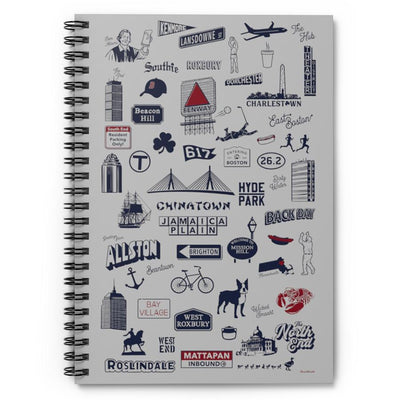 Boston Tourist Spiral Notebook - Ruled Line - Chowdaheadz