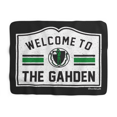 Welcome To The Gahden Basketball Sherpa Fleece Blanket - Chowdaheadz