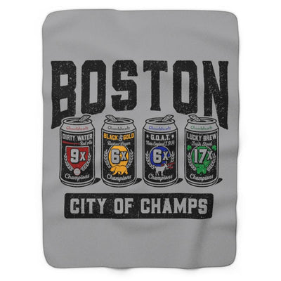 Boston 4-Pack Champions Sherpa Fleece Blanket - Chowdaheadz