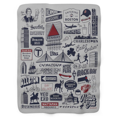 Boston Tourist Sherpa Fleece Blanket - Chowdaheadz
