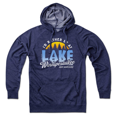 I'd Rather Be at Lake Winnipesaukee Lightweight Hoodie - Chowdaheadz