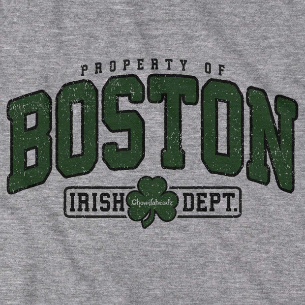 Property of Boston Irish Dept. Coach Hoodie - Chowdaheadz