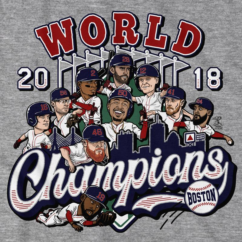 Boston 2018 World Champions T-Shirt - Chowdaheadz